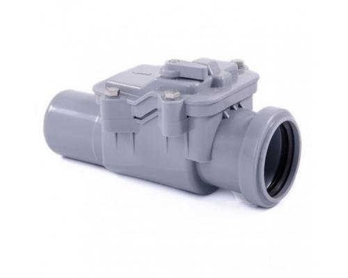 Клапан серый PP-H обратный Дн 50 б/н в комплекте РосТурПласт 11338