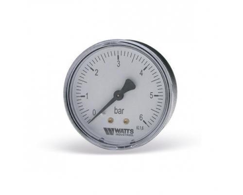 """Манометр F+R100 осевой Дк50мм 0-6 бар G1/4"""" Watts"""