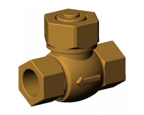 Клапан обратный бронза Ду  25 Ру 25 ВР/ВР подъем Tecofi CS2142-0025