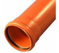 Труба НПВХ с раструбом коричневая Дн 110х3,2 б/нап L=2,0м в/к