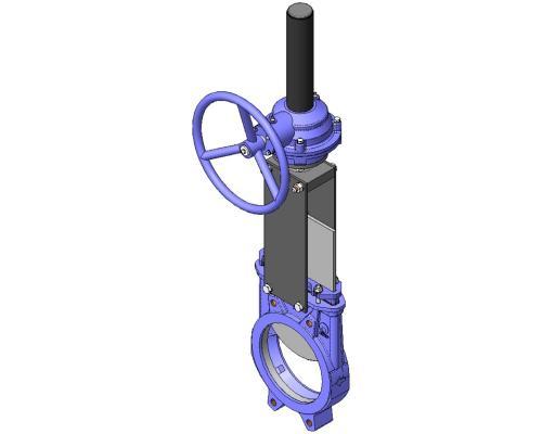 Задвижка шиберная СМО A-03-R-E стальная межфланцевая редуктор Ду 1000A-031-01-1000 Ру 2-SsP-R-E