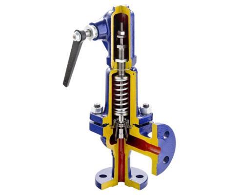 Клапан предохранительный ZETKAMA 240F стальной фланцевый Ру 40 Ду 150 Ру 40 240F-150-E-011