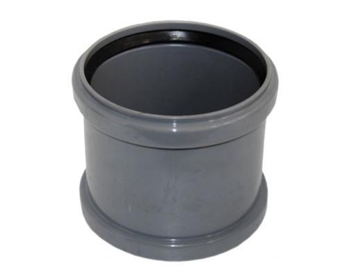 Муфта НПВХ ремонтная серая Дн 110 б/нап L=0,155м в/к