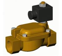 Клапан эл/магн латунь EV1140 Ду 25 ВР/ВР НЗ катушка со штекером 230Вт Tecofi EV1140-0025