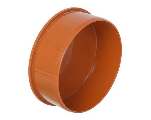Заглушка PP-B коричневая Дн 110 б/нап VALFEX 30108110