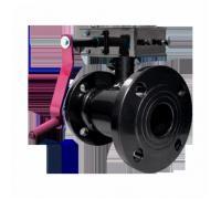 Кран шаровой стальной 09Г2С 11с67п Ду 400 Ру25 фл полнопроходной с редуктором Маршал 11с67п Цф.01.3.025.400