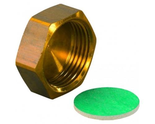 Заглушка латунь Ду 20 евроконус MLC для коллектора H ВР Uponor 1014122