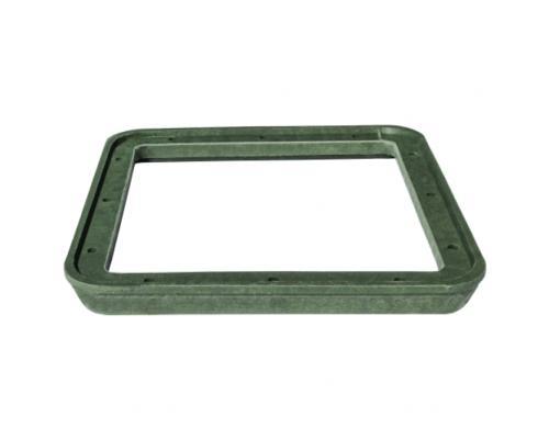 Люк полимер тип Л зелёный квадратный 685х60 30кН