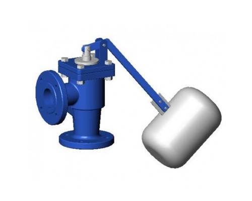 Кран поплавковый уравновешенный чугун RF3240 синий Ду  40 Ру 10 фл поплавок поплавок сталь нерж в комплекте 120С Tecofi RF3240-0040