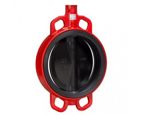 Затвор дисковый поворотный ЗПВЛ Гранвэл Ду 100 Ру16 межфл с рукояткой FLN(w)-5-100-MN-Е ADL BD01A12815