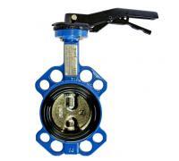 Затвор дисковый поворотный VP5445S-02EP Ду 125 Ру 16 межфл с рукояткой диск сталь, корпус сталь Tecofi VP5445S-02EP0125