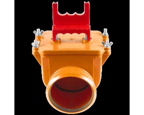 Клапан коричневый PP-H обратный для НПВХ и PP-H Дн 110 безнапорное в/к