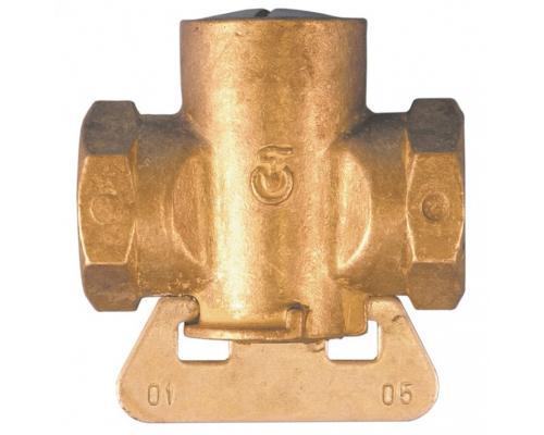 Кран конусный латунь газ 11б12бк Ду 15 ВР/ВР полнопрох Цветлит