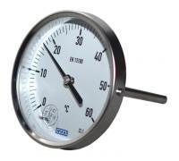 "Термометр биметаллический осевой Дк100 L=100мм G1/2"" 60C А52.100 Wika 3904105"