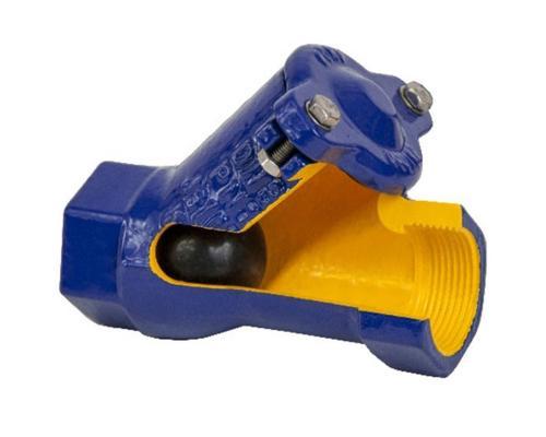 Клапан обратный шаровой ZETKAMA 401 чугунный резьбовой Ду 25 Ру 16 401D-025-C55