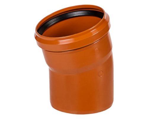 Отвод НПВХ с раструбом коричневый Дн 110х30гр б/нап в/к