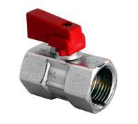 Кран шаровой мини латунный Idro 1524 красный Ду 15 ВР/ВР STC 1524