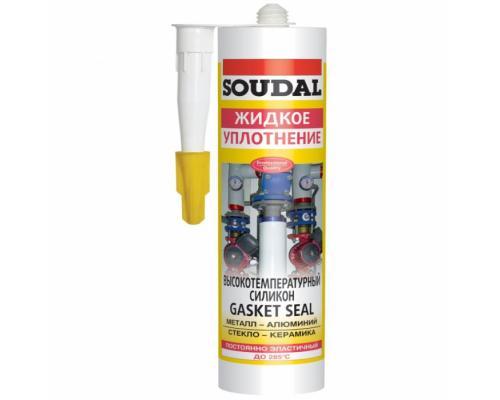 Герметик силикон высокотемпературный 300мл красный Soudal 104240