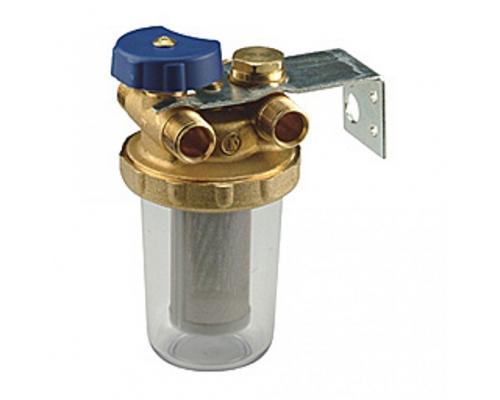 Фильтр сетчатый T-образный N1UB со сливным краном Ду 10 ВР Giacomini N1UBY001