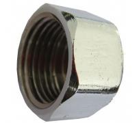 Заглушка латунь хром Ду 20 ВР Faro STC 5690