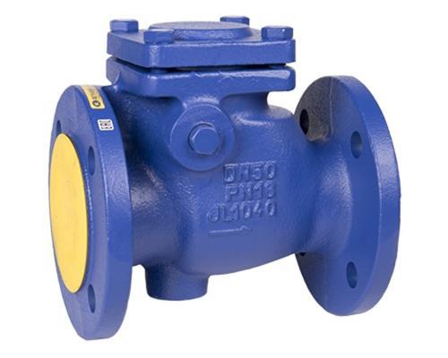 Клапан обратный поворотный ZETKAMA 302 чугунный фланцевый Ду 100 Ру 16 302A-100-C-01