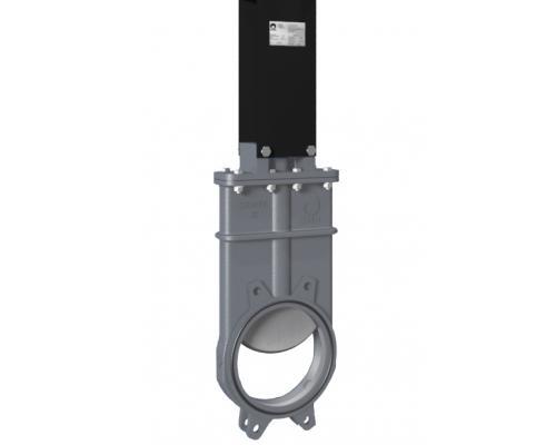 Задвижка шиберная СМО K-02-ISO-E нерж. сталь межфланцевая ISO-фланец Ду 100K(SP)-021-02-0100 Ру 10-SsP-ISO-E