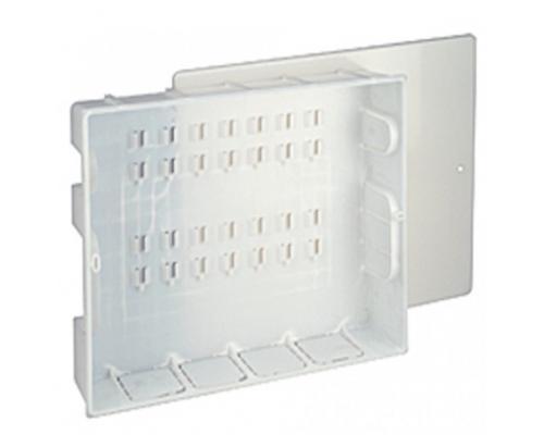 Шкаф коллекторный встроенный пластик R595 670х300х90мм в комплекте Giacomini R595CY001