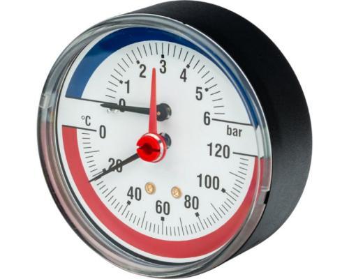 Термоманометр R226 осевой Дк63 4 бар 120C Giacomini R226Y001