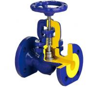 Клапан (вентиль) запорный чугун Ду 100 Ру16 фл