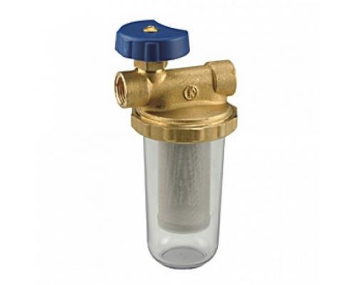 Фильтр сетчатый T-образный N2 дренажн с запорным клапаном Ду 10 ВР Giacomini N2Y001