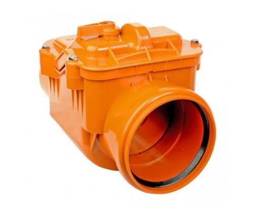 Клапан коричневый PP-B обратный Дн 110 безнапорное в/к РосТурПласт
