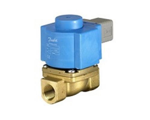 Клапан соленоидный  EV 225B, ДУ 10 мм, латунь, G 1/2, PTFE, нормально закрытый, c катушкой BQ, 24В пост. ток Danfoss (032U380402)
