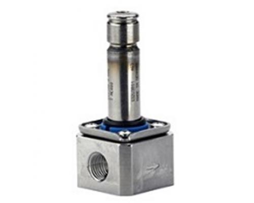 Клапан соленоидный  EV 215B, ДУ 3 мм, нерж. сталь, G 1/4, PTFE, нормально закрытый Danfoss (032U3801)