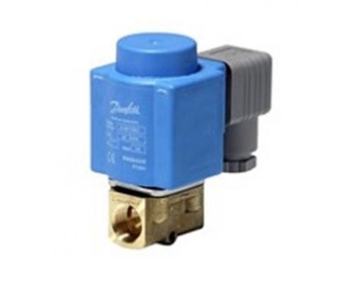 Клапан соленоидный  EV 210B, ДУ 4.5 мм, латунь, G 3/8, FKM, с катушкой 230 В, 50 Гц Danfoss (032U148031)