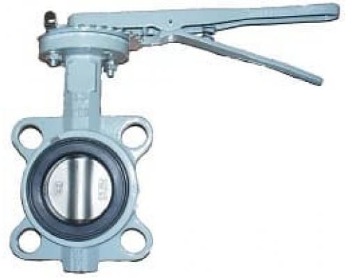 Затвор BUV-VF863D050H Ру16 с рукояткойNBR Ду 50 ABRA диск н/ж