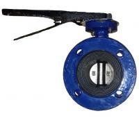 Затвор дисковый ABRA-BUV-FL226D065H Ру10/16 с рукояткой фланцевый Ду 65 ABRA