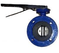 Затвор дисковый ABRA-BUV-FL226D080H Ру10/16 с рукояткой фланцевый Ду 80 ABRA