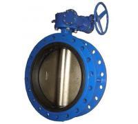 Затвор дисковый ABRA-BUV-FL226D600G Ру16 с редуктором фланцевый Ду 600 ABRA