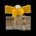 Кран шаровой латунный газ Стандарт 230 аналог 11б27п Ду15 ВР/ВР бабочка ГАЛЛОП
