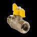 Кран шаровой латунный газ Стандарт 231 аналог 11б27п Ду15 ВР/НР бабочка ГАЛЛОП