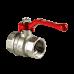 Кран шаровой латунный никелированный Стандарт 220 аналог 11б27п1 Ду25 ВР/ВР рычаг ГАЛЛОП