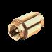 Клапан обратный латунь 3001 Py16 Ду15 ВР пружинный Aquasfera 3001-01