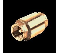 Клапан обратный латунь 3001 Py10 Ду40 ВР пружинный Aquasfera 3001-05
