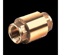 Клапан обратный латунь 3002 Ру40 Ду15 ВР пружинный с лат/штоком Aquasfera 3002-01