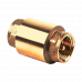 Клапан обратный латунь 3002 Py40 Ду20 ВР пружинный с лат/штоком Aquasfera 3002-02