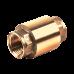 Клапан обратный латунь 3002 Ру40 Ду32 ВР пружинный с лат/штоком Aquasfera 3002-04