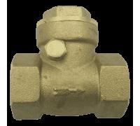 Клапан/затвор обратный латунь 3004 Ру40 Ду15 ВР с р/уплотнением Aquasfera 3004-01