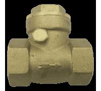 Клапан/затвор обратный латунь 3004 Ру30 Ду32 ВР с р/уплотнением Aquasfera 3004-04