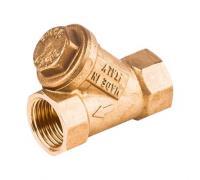 Фильтр латунный сетчатый R74A Ду32 Ру30 м/м R74AY106 Giacomini