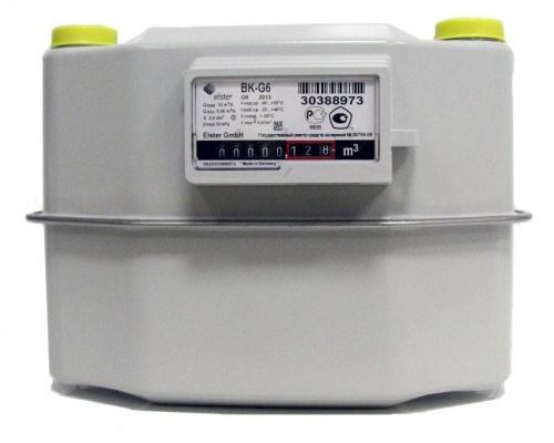 Газовый счетчик BK G6 (250мм) левый